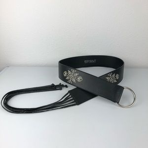 LANE BRYANT Embroidered Tie Waist Belt Size 14-20